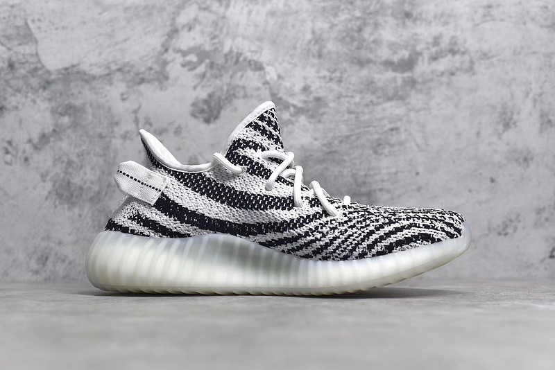 ADIDAS YEEZY BOOST 350 V2 ZEBRA SURFACES WITH TRANSLUCENT STRIPE