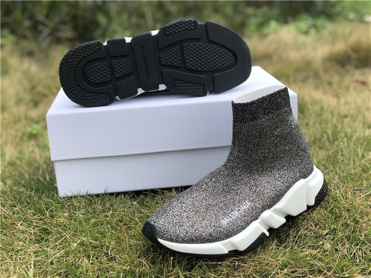 AUTH BNIB BALENCIAGA SPEED TRAINER WITH Gray