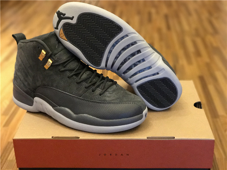 hot sale online 288a2 6f0cb Air Jordan 12 Dark Grey Suede [2017.9.13] - $169.00 ...