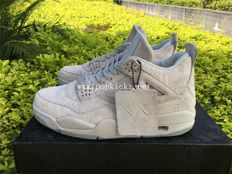 Air Jordan 4 Retro Kaws Silver White