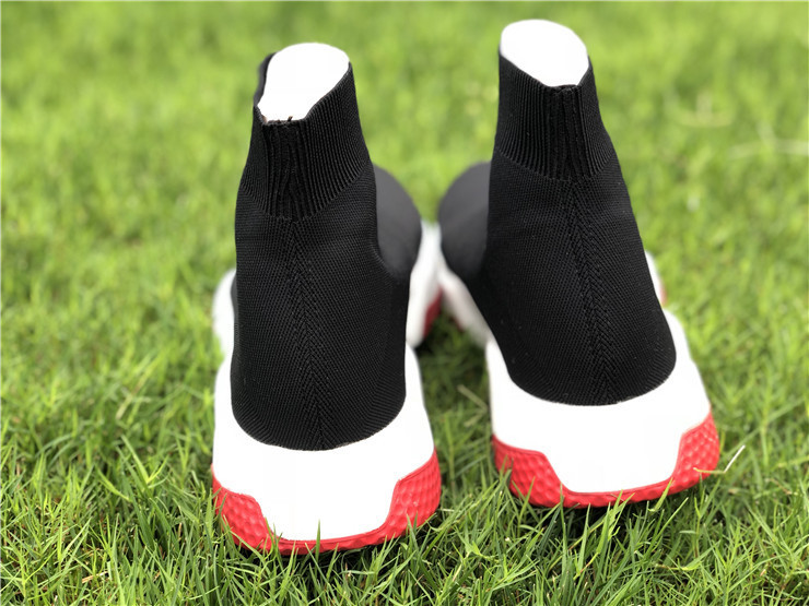 Balencia Speed Trainer Sock Race Runners Black White Red_