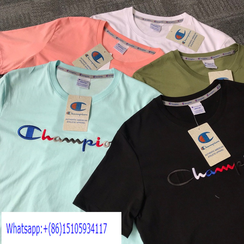CP028 Champion Logo Embroidery Short Sleeve T-shirt
