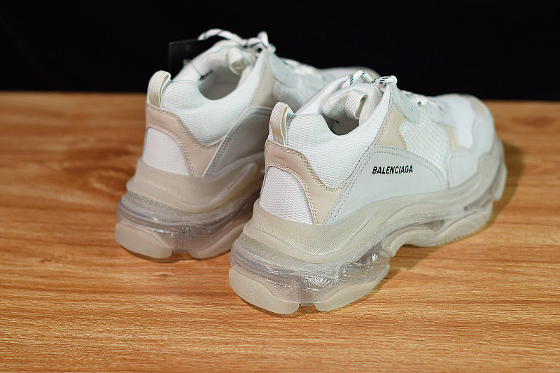 GOD BALENCIA PARIS TRIPLE S TRUE WHITE 2019 VERSION NEWEST SOLE OFFICIAL WITH RETAIL