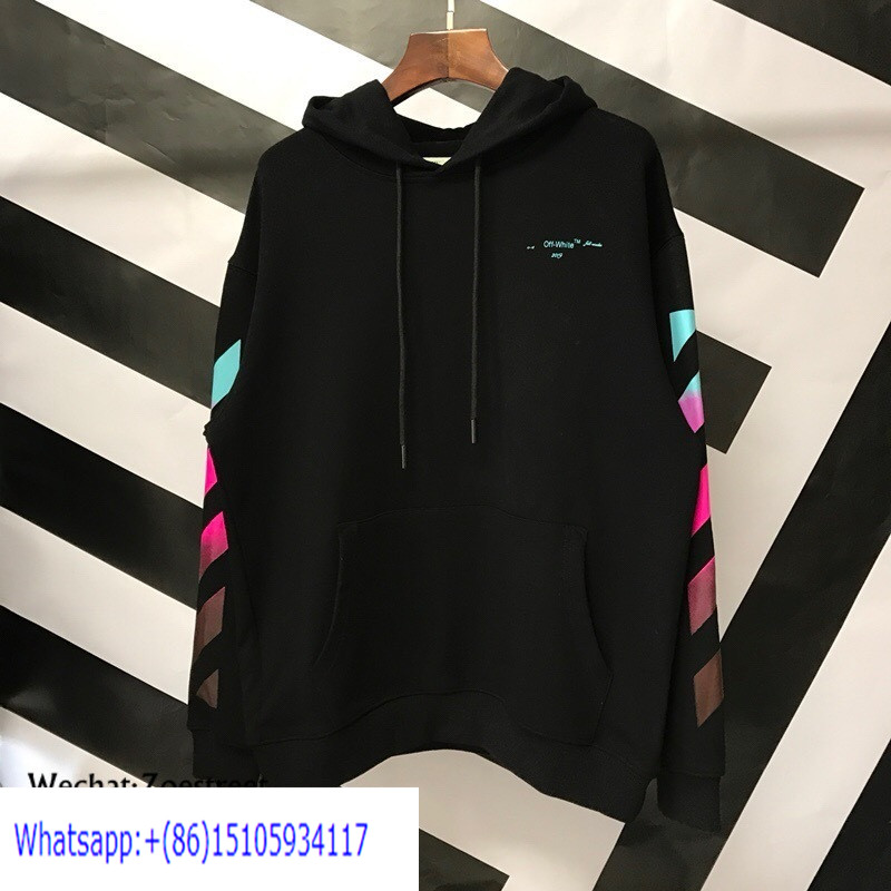 OW224 Off white Black Gradient Pullover Hoodie