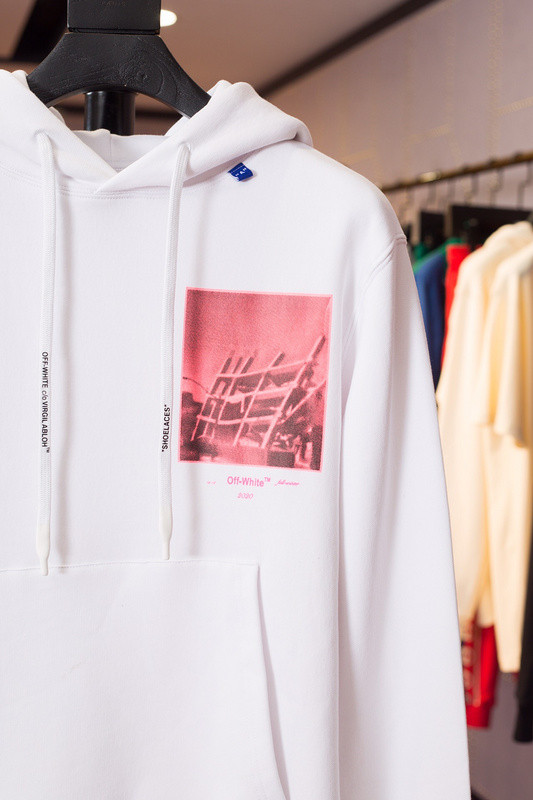 OW381 Off White Pink Oil Paiting Oversized Hoodie