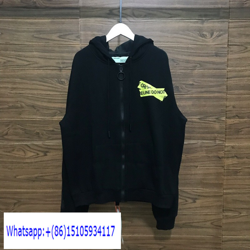 OW387 Off White Zip Up Hoodie