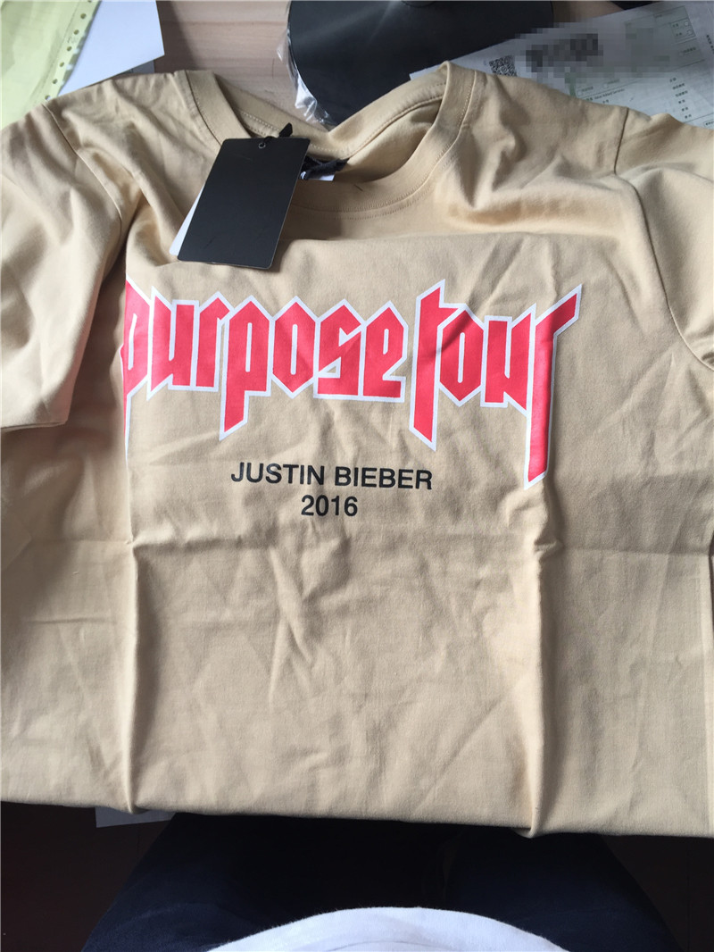 2016 VFILES JUSTIN BIEBER FEAR OF GOD PURPOSE TOUR MY MOM DON'T LIKE YOU T-SHIRTS COTTON STREET FASHION TOPS TEES